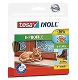 Tesa tesamoll E-Profil Gummidichtung für Fenster und Türen Braun E-Profil, 25m