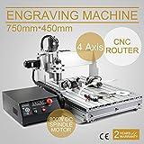 FurMune CNC Fräsmaschine Fräs Graviergerät CNC Router Machine Engraver Machine 6040T 4 Achsigen Einfache Installation Aus Aluminiumlegierung (6040Z 4 Achsigen)