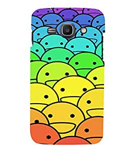 EPICCASE ColourFull Smilies Mobile Back Case Cover For Samsung Galaxy Ace 3 (Designer Case)