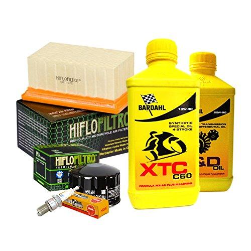 Tagliando Bardahl XTC 10W40 filtro olio aria candele cambio 80W90 R 1200 GS.