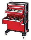 KETER Werkzeugkoffer Werkzeugwagen Kiste 6 Schubladen mit Lenkrollen