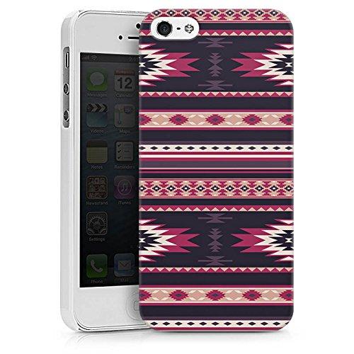 Apple iPhone X Silikon Hülle Case Schutzhülle Ethno Teppich Azteken Muster Hard Case weiß