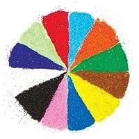Sacchetti di Sabbia Brillante in 12 Colori per Decorare e Personalizzare Bigliettini, Creazioni Fai Da Te e Collage Estivi (confezione da 12 sacchettini)
