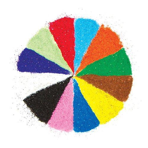 nd in 12 Farben für Kinder zum Basteln, Gestalten und Verzieren von Karten, Bastelarbeiten und Collagen im Sommer (12 Beutel) (Bunter Sand)