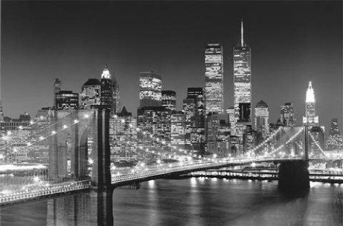 1art1 40561 New York - Brooklyn Bridge Fototapete Poster-Tapete (175 x 115 cm)