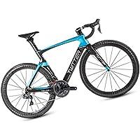 Bicicleta De Montaña, Bicicleta De Carretera, Rojo / Azul, Juego Grande De Velocidad M8000-22 (33 Velocidades), Adecuado Para Adultos Jóvenes, 11.3 KG, Material De Fibra De Carbono / Nivel De Carrera,,Blue,49CM