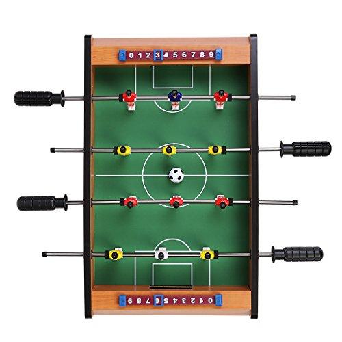 Virhuck Mini Tischplatte Tischkicker Tischbillard, Indoor & Outdoor Tisch Fußball Spiel Set für Kinder (Tischkicker)