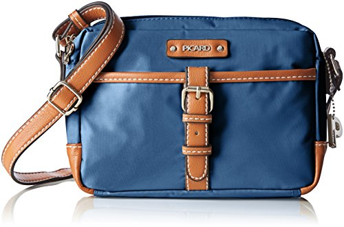 Picard Damen SONJA Umhängetaschen, Blau (Ozean), 21x15x5 cm - Deluxe Damen Geldbörse