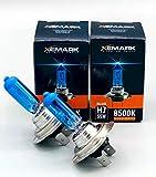 XEMARK H7 Xenon Optik Lampe - 55W 12V Super White Blue Halogen Birne - Passend für diverse Fahrzeuge - Auto Abblendlicht Lampenset - 2 Stück