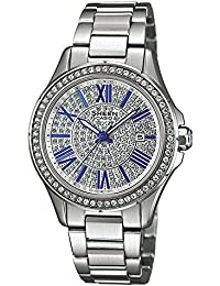 Casio Damen-Armbanduhr Sheen Analog Quarz Edelstahl SHE-4510D-7AUER