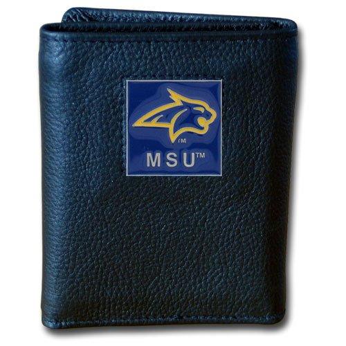 Siskiyou NCAA Montana State Bobcats Deluxe Leder Geldbörse Montana Tri-fold Wallet