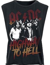 AC/DC Highway To Hell Top Femme noir