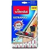 Vileda 4023103201262- Recambio Ultramax 2 en 1,microfibra poliéster, 46x 14,1x 1,5cm, color blanco y rojo