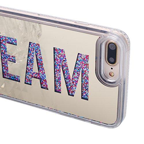 Cover iPhone 7 Plus,Custodia iPhone 7 Plus, Custodia Cover Case per iPhone 7 Plus,ikasus® Cristallo di lusso di Bling di scintillio lucido diamante scintilla iPhone 7 Plus Case Custodia Cover Galvanot Dream:Gold