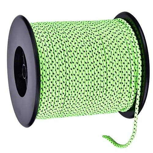 Delaman Zeltseil Leuchtend Paracordseil Zeltseil 50m reflektierende Polyesterschnur Paracord Zelt Guylineseil für Campingzelt Outdoor-Verpackung, Grün