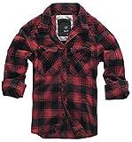 Brandit Camicia A Quadri Uomo Flanella Hemd - rosso-nero, XL