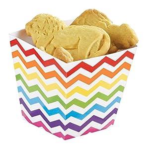 Amscan-146002Rainbow Buffet Mini papel Treat tazas