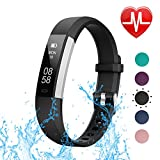 LETSCOM Fitness Tracker with Heart Rate Monitor, Slim Sports Activity Tracker Watch, Waterproof