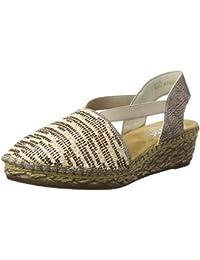 Rieker Damen 68979 Geschlossene Sandalen mit Keilabsatz