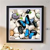 Diamant Malerei Kit 5D Strass DIY Butterfly Kieselsteine Bohren Voll Stickerei Kreuzstich Handgemachte Mosaik Home Room Decor 30X30cm