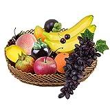 EQLEF® 10 Pezzi di misto frutta artificiale decorativo di visualizzazione, plastica Plastic Food
