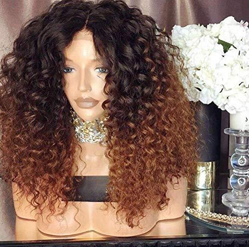 """WQWIG 14""""Perruque Courte Noire Crépue Jet Noir Synthétique Afro Perruques Cheveux Bouclés pour Femme Noire au Quotidien"""