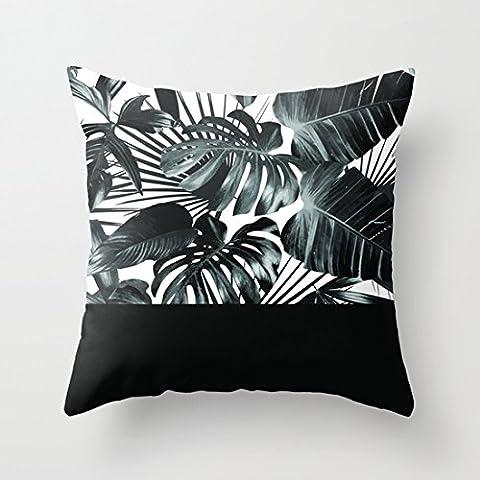 Feuilles de palmier Housses de coussin Oreiller pour canapé Oreiller décoratif 18x 18amovible pour Home Decor