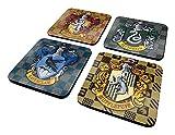 Harry Potter Schilde Untersetzer Set–4Teilig