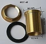 Cocina grifo mezclador monomando para lavabo reparación Kit de montaje tubo de latón roscado tuerca instalar Parts