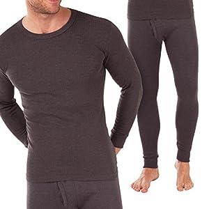 MT® Herren Thermowäsche Set (Hemd + Hose) – Warm, weich und atmungsaktiv durch Klimafaser – M-3XL