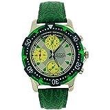 Es-el-efecto-de-los-hombres-de-la-persona-en-analgica-Chrono-3-Sub-Silver-Dial-color-verde-correa-de-PU-reloj-1404-G