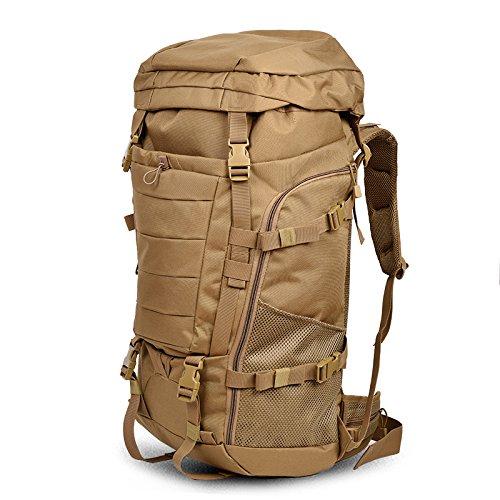 Outdoor zaino spalla uomini leisure sport viaggi double borsa a tracolla edizione Coreana di grande capacità alpinismo turismo borsa, deserto modello python 85L75*35*23cm (e) 85L75*35*23cm