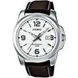 Casio Collection MTP-1314PL-7AVEF, Orologio da polso Uomo, Bianco (Bianco/Marrone)