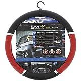 SUMEX Speed PVC Steering Wheel Cover - Red/Black