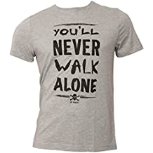 FC St. Pauli – Camiseta You ll Never Walk Alone gris negro, ...
