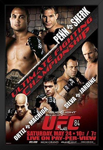 Pyramid America UFC 84Bj Penn Vs Sean Sherk Sport Poster, gerahmt 30,5x 45,7cm