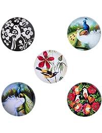 Morella mujer Click-Button Set 5 pcs de presión diseño pájaro del mundo