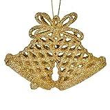 SSITG 3 x Gold Brillant Weihnachtsglocken Christbaumglocken Christbaumschmuck Geschenk