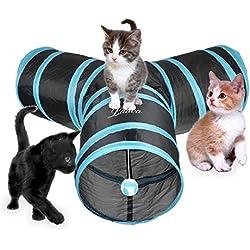 Tunnel per gatti a 3 uscite