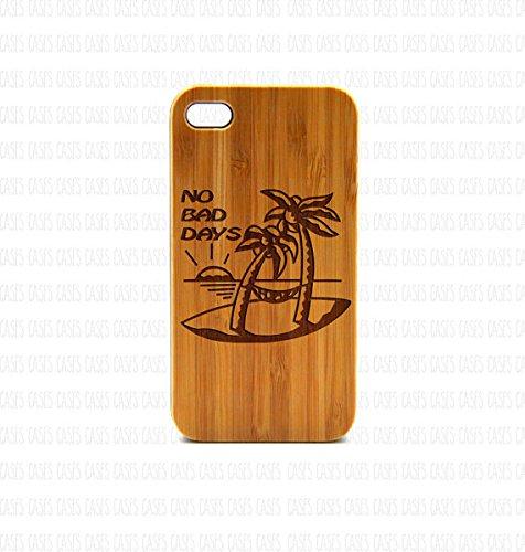 krezy Étui en bois véritable Iphone 6Plus Coque, sans mauvaises jours iPhone 6Plus Coque, yeux iPhone 6Plus Coque, étui iphone en bois,