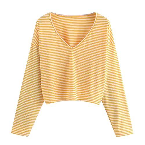 ZODOF Moda Mujer Camisa Casual Manga Larga Cuello