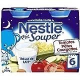 Nestlé p'tit souper tomates pâtes courgettes 2x200g dès 6 mois - ( Prix Unitaire ) - Envoi Rapide Et Soignée