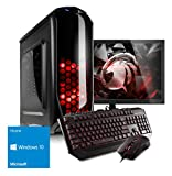"Kiebel Komplett Set Gamer PC + 60cm (23.6"") Monitor - Intel Core i5 8400 6-Kerner Turbo bis 4.0GHz 