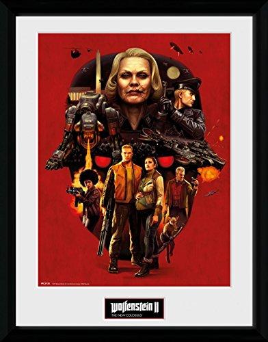 Preisvergleich Produktbild 1art1 108381 Wolfenstein - Face Of Death Gerahmtes Poster Für Fans Und Sammler 40 x 30 cm