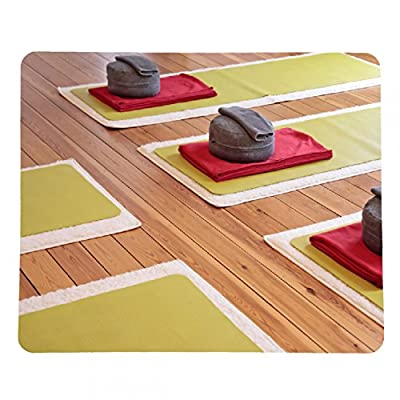 Mousepad Yogamatten und Yogakissen