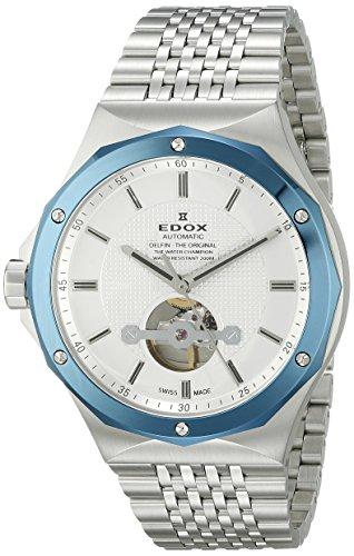 Edox Delfin 85024-3BUM-AIN Steel Mens Watch Scratch Resistant Sapphire...