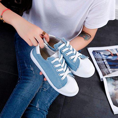 Clode® Damen Sportschuhe Schuhe Sneakers Laufschuhe Turnschuhe Klassische Low Top Blau