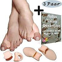 ValgoFit 6x Zehenspreizer gegen Hallux Valgus mit Ballenschutz, Bandage Korrektur, Softgel-Silikon Zehentrenner... preisvergleich bei billige-tabletten.eu