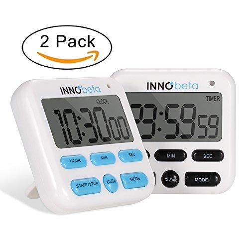 Digitaler Küchen Timer, Zeitschaltuhr, Premium Kochzeitschaltuhr, Countdown-Stoppuhr & Countdown-Timer, Uhr Modus, Wecker Modus, Lautstärkeregelung, einfach zu bedienen - InnoBeta