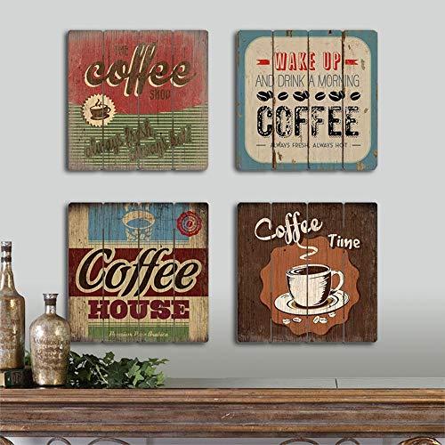 LCLZ 4 unids/Set 40 * 40 cm Tablero Madera café Cuadrado